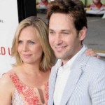 Julie Rudd with husband Paul Rudd. She lost her fiancé in a gas explosion.